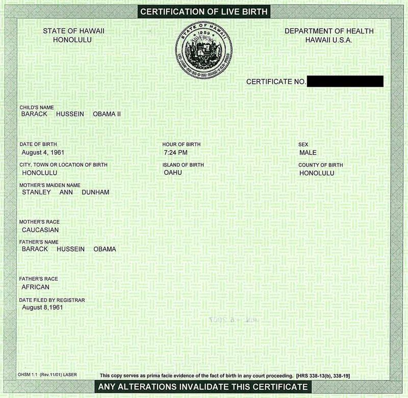 Obama Fake Birth Certificate